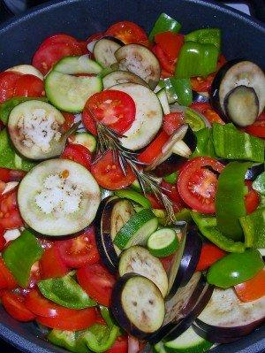 Die letzte Gemüsepfanne frisch aus dem Garten