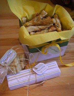 Käsestangen und Thymiankekse für die kleine Silvesterfeier