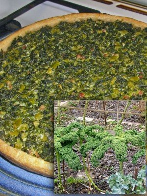 Quiche mit Grünkohl aus dem Garten