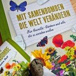 Buchvover mit Blumen, Samenbombe und Schmetterrlingen