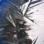Eis in der Wassertonne