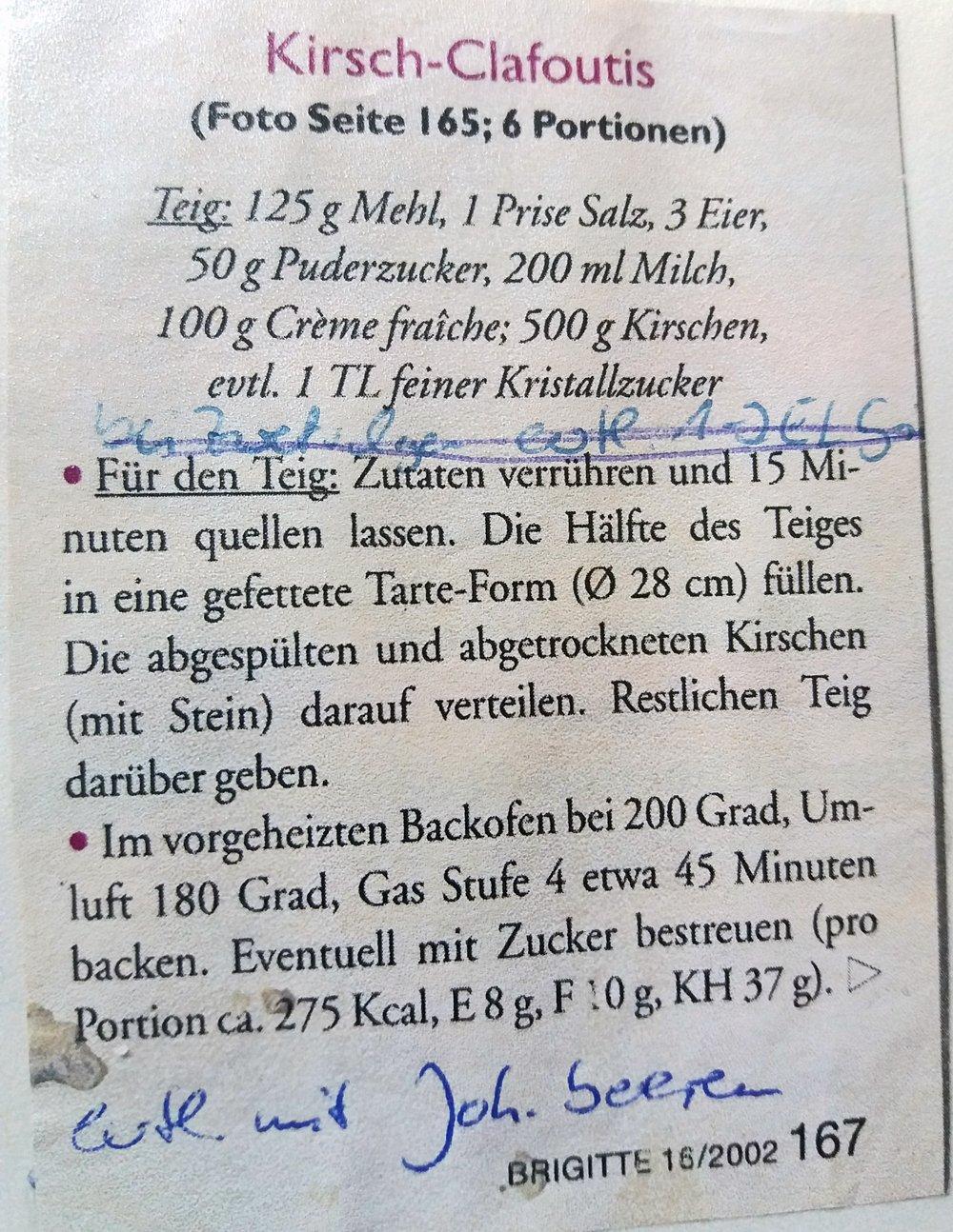 Clafoutis Rezept » Freisinger Gartenblog