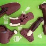 Kleine Schokoladen-Gartenwerkzeuge