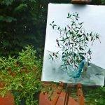 P1180510 chili aquarell in arbeit 150x150 - Chilisalz und Chilipulver aus der Kaffeemühle - kuechengarten