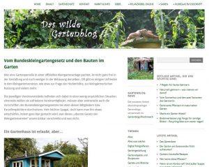 Screenshot von der Schrebergarten Info-Seite vom Wilden Gartenblog