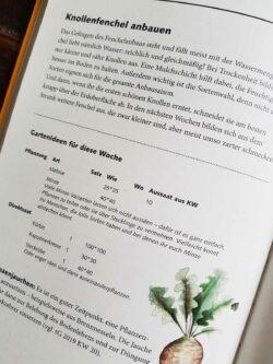 Seite aus dem Gartenkalender