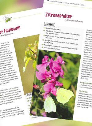 Zwei Seiten aus dem Naturgarten-Buch