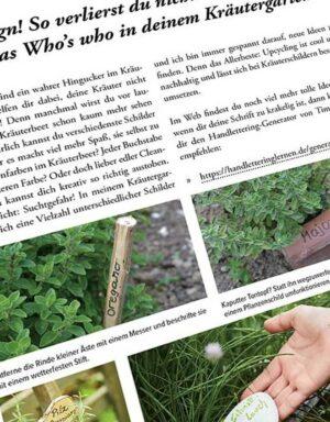 Gartenkräuter - Buchseite